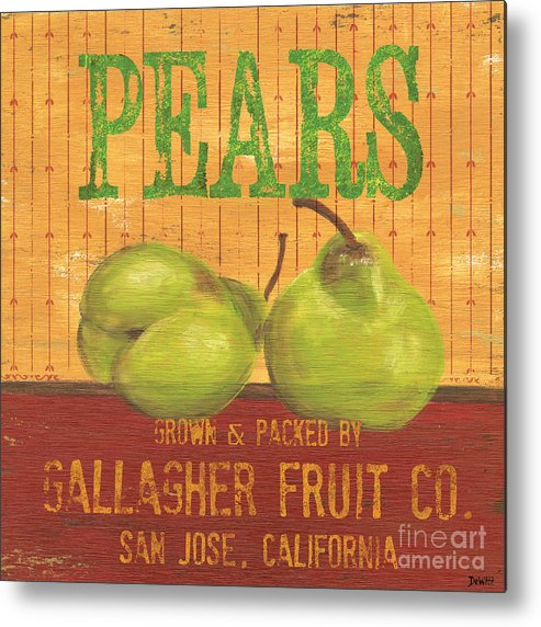 Food Metal Print featuring the painting Farm Fresh Fruit 1 by Debbie DeWitt