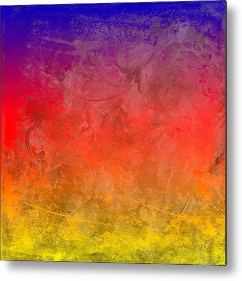 Abstract Metal Print featuring the digital art Flame by Peter Tellone