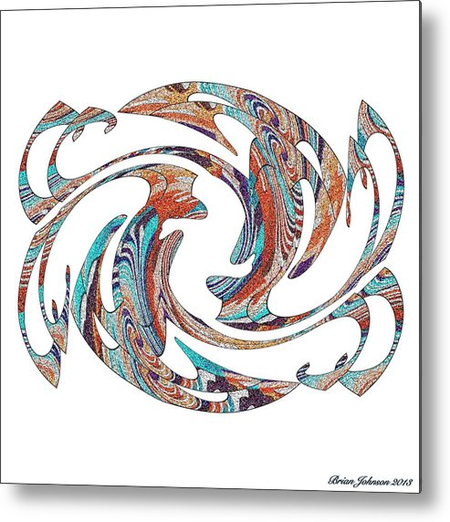 Abstract Metal Print featuring the digital art Flippin Fancy 1 by Brian Johnson
