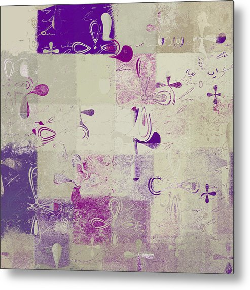 Abbstract Floral Digital Art Metal Print featuring the digital art Florus Pokus A01d by Variance Collections