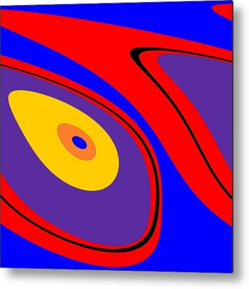 Fluid Metal Print featuring the digital art Flow 1 by Mary Bedy