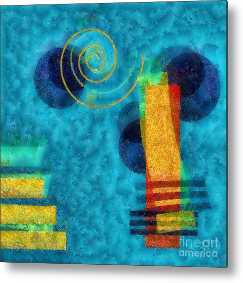 Forms Metal Print featuring the digital art Formes 02b by Variance Collections