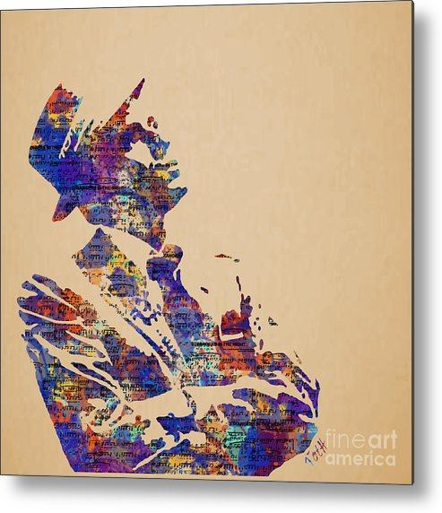 Frank Metal Print featuring the painting Frank Sinatra Watercolor by Laura Toth