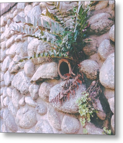 Stone Metal Print featuring the photograph Garden Wall by Judith Kitzes