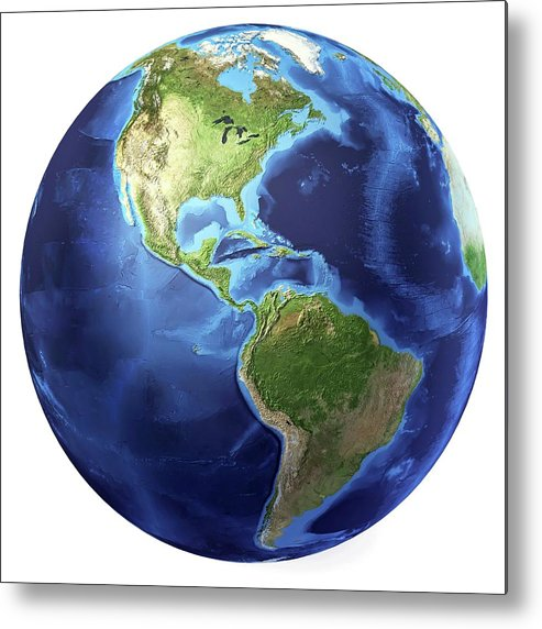 Artwork Metal Print featuring the photograph Globe by Leonello Calvetti