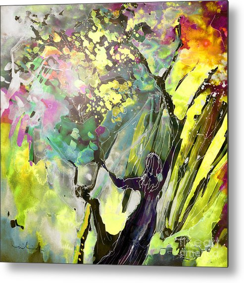 Fantasy Metal Print featuring the painting Grace Under Pressure by Miki De Goodaboom