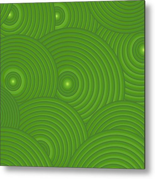Frank Tschakert Metal Print featuring the painting Green Abstract by Frank Tschakert