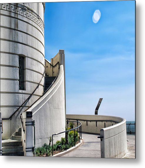 Griffith Observatory Metal Print featuring the photograph Griffith Stairs by Camille Lopez