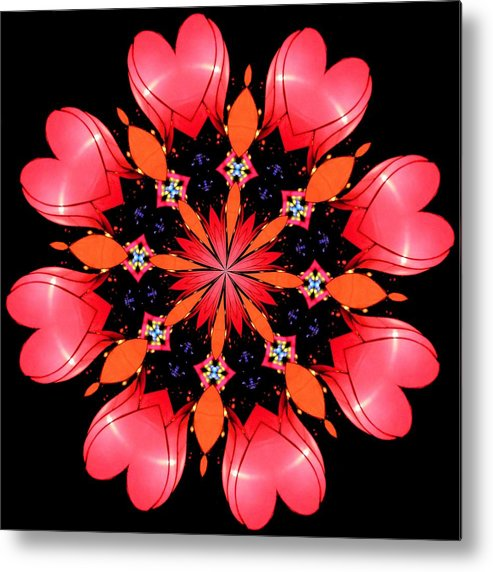 Kaleidoscope Metal Print featuring the photograph Happy Valentines Day by Elizabeth Budd