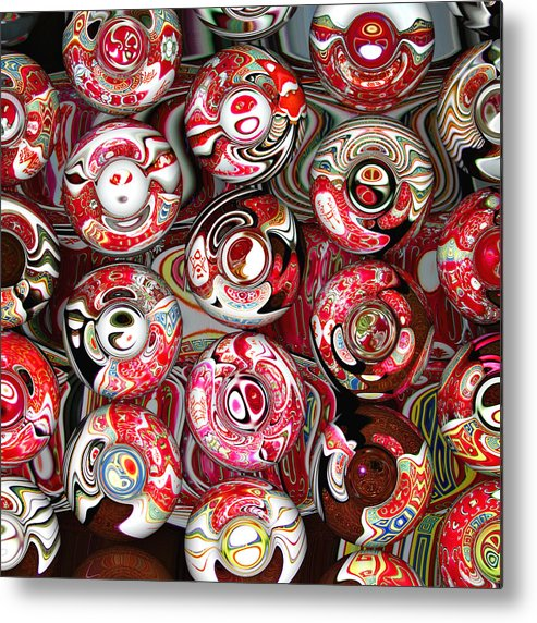 Abstract Metal Print featuring the digital art Hard Candies by Wendy J St Christopher