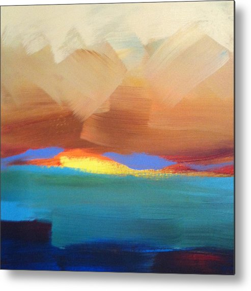 Sunset Metal Print featuring the painting Hawaiian Glory by Christine Brinson