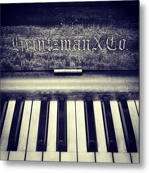 Metal Print featuring the photograph Heintzman by Marie-Claude Charron