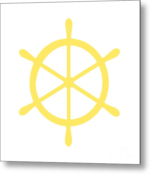 Graphic Art Metal Print featuring the photograph Helm In Yellow And White by Jackie Farnsworth
