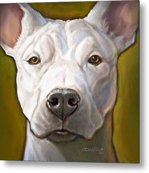 Dog Metal Print featuring the painting Honor by Sean ODaniels