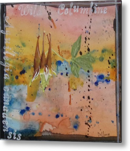 Series Metal Print featuring the painting Texas Wildflowers Tp Z by Michael Dillon