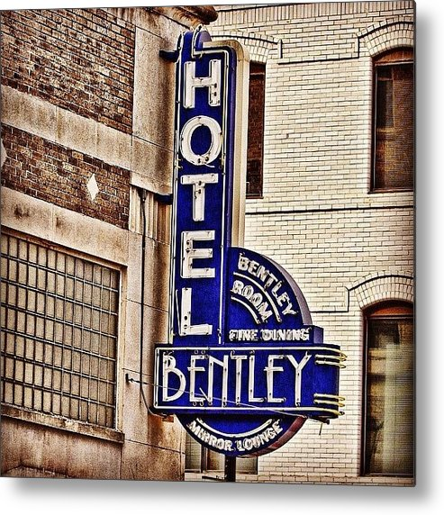 Igersoflouisiana Metal Print featuring the photograph Hotel Bently by Scott Pellegrin