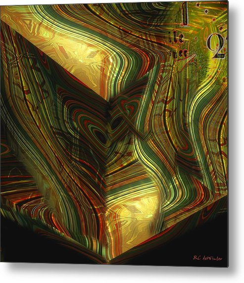 Abstract Metal Print featuring the painting I Have Set Aside A Block Of Time by RC DeWinter