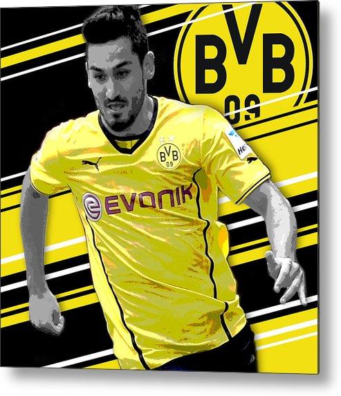 sale retailer 0e67c 6f440 Ilkay Gundogan Borussia Dortmund Print Metal Print
