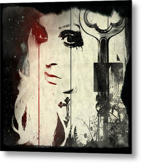 Portrait Metal Print featuring the photograph In Cloth by Kevin Hunt
