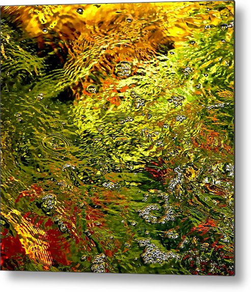 Abstract Metal Print featuring the photograph In The Flow 1 by Michael Durst