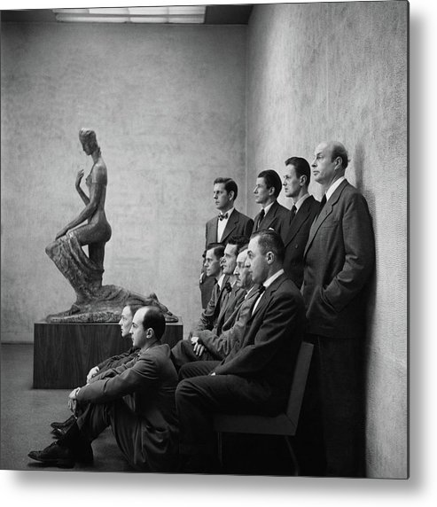 Art Metal Print featuring the photograph Interior Designers At Moma by Cecil Beaton