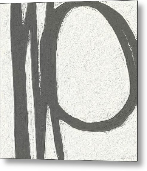 Abstract Metal Print featuring the painting Intersection by Linda Woods