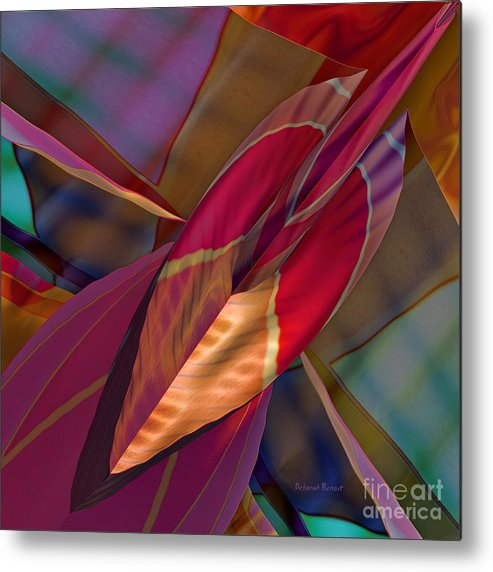 Abstract Metal Print featuring the digital art Into The Soul by Deborah Benoit