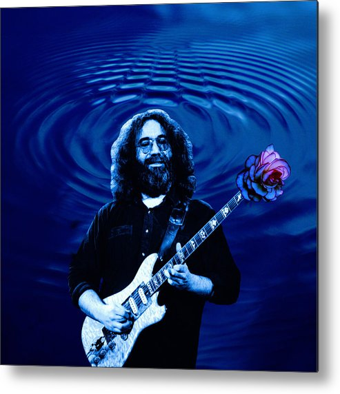 Grateful Dead Metal Print featuring the photograph Blue Ripple Rose by Ben Upham
