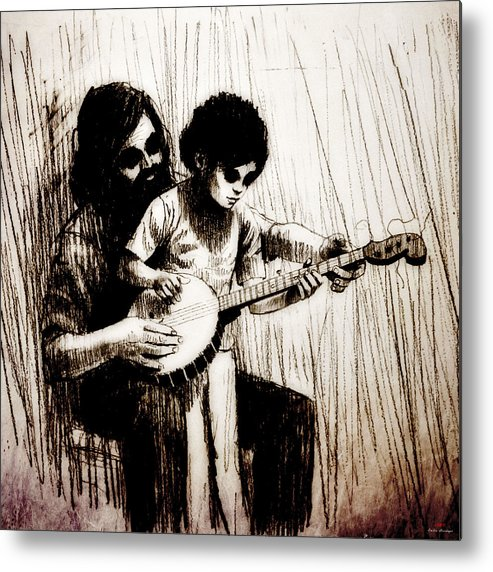 Music Metal Print featuring the drawing Jfx2014-031 by Emilio Arostegui