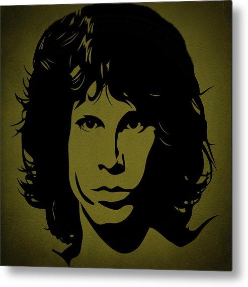 Jim Morrison Metal Print featuring the photograph Jim Morrison by Movie Poster Prints