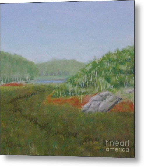 Landscape Metal Print featuring the painting Kantola Swamp by Lynn Quinn