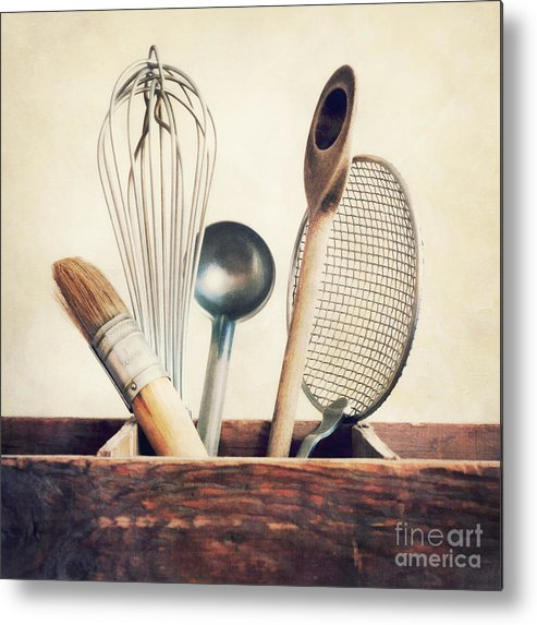 Cook Metal Print featuring the photograph Kitchenware by Priska Wettstein