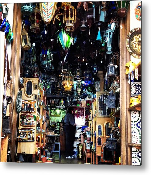 Lamp Metal Print featuring the photograph Lamp Shop by Hannah Rose