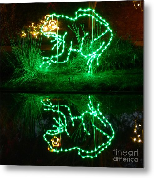 Frog Metal Print featuring the photograph Leap Frog by Jean Wright