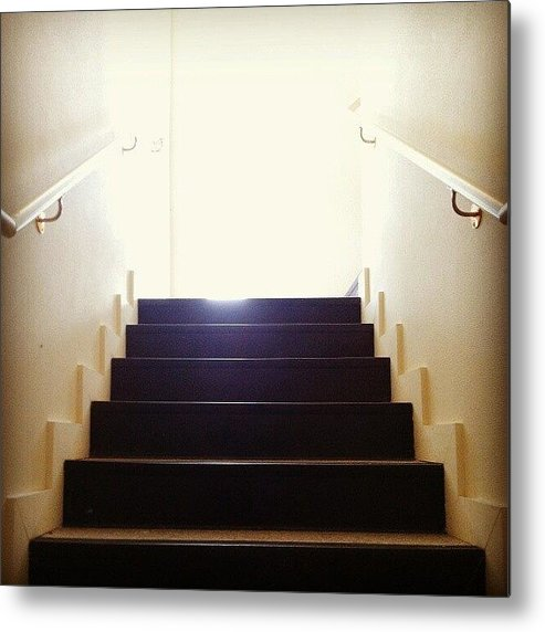 Stairs Metal Print featuring the photograph Leaving Now by CML Brown