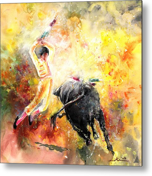 Animals Metal Print featuring the painting Lightning Strikes by Miki De Goodaboom