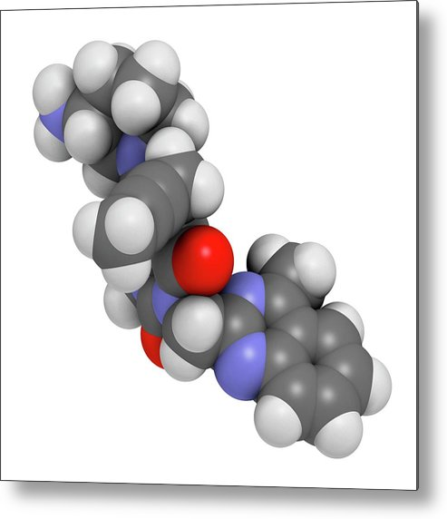 Linagliptin Metal Print featuring the photograph Linagliptin Diabetes Drug Molecule by Molekuul