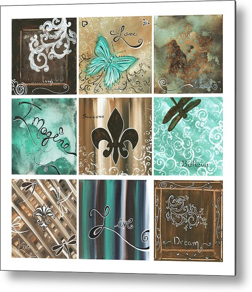Abstract Metal Print featuring the painting Live And Love By Madart by Megan Duncanson