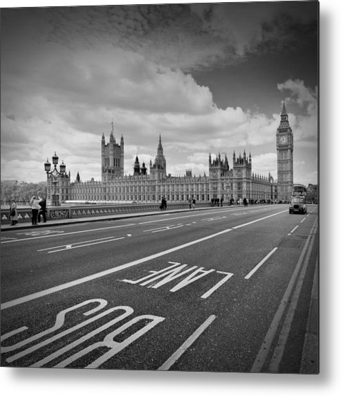 British Metal Print featuring the photograph London - Houses Of Parliament by Melanie Viola