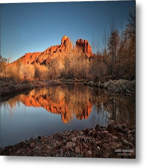 Metal Print featuring the photograph Long Exposure Photo Of Sedona by Larry Marshall