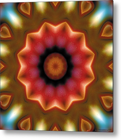 Relaxing Pattern Metal Print featuring the digital art Mandala 103 by Terry Reynoldson