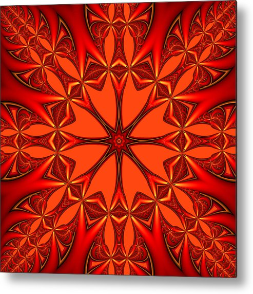 Digital Art Metal Print featuring the digital art Mandala by Gabiw Art