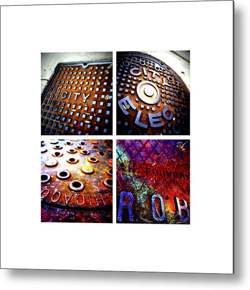 Manhole Cover Metal Print featuring the photograph Manholes_06.02.12 by Paul Hasara