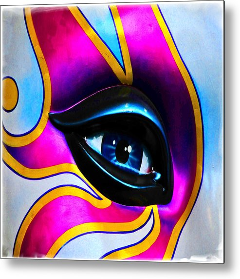 Mask Metal Print featuring the photograph Mardi Gras Eye by Mike Martin