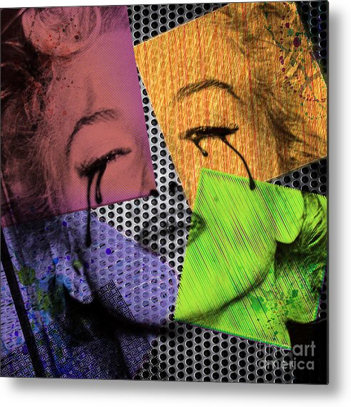 70s Metal Print featuring the digital art Marilyn by Mark Ashkenazi