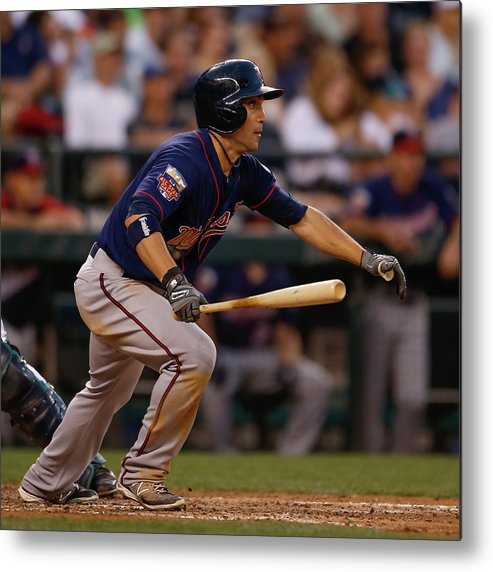 American League Baseball Metal Print featuring the photograph Minnesota Twins V Seattle Mariners by Otto Greule Jr