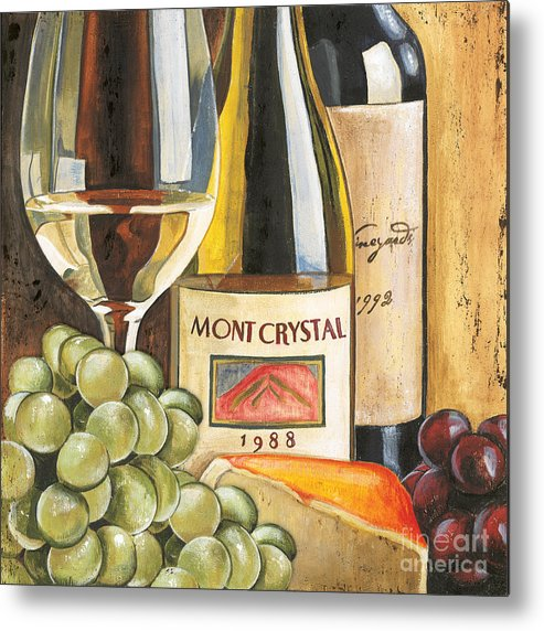 Green Grapes Metal Print featuring the painting Mont Crystal 1988 by Debbie DeWitt