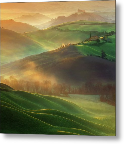Landscape Metal Print featuring the photograph Morning Dreams by Krzysztof Browko