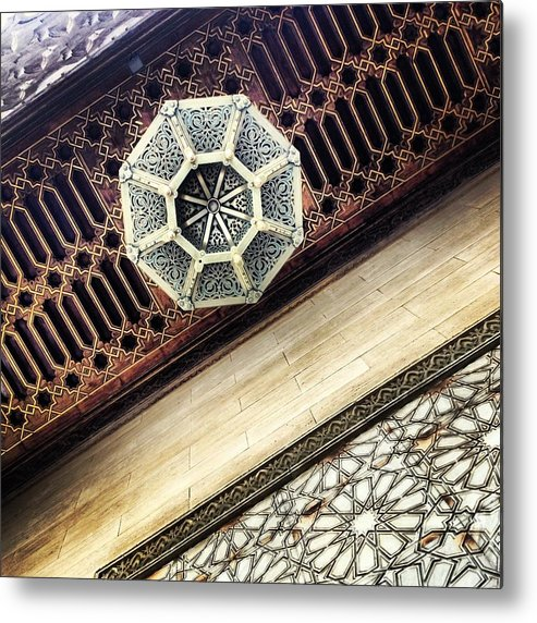 Morocco Metal Print featuring the photograph Moroccan Design II by Hannah Rose