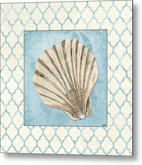 Shell Metal Print featuring the painting Moroccan Spa 1 by Debbie DeWitt